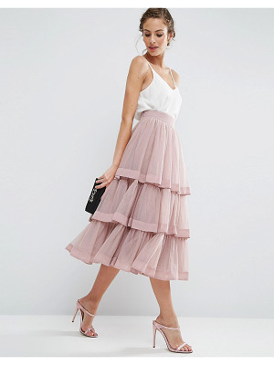 ASOS Tulle Prom Skirt With Multi Layer And Trim