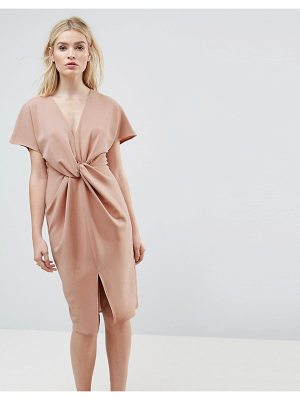 ASOS Twist Knot Textured Kimono Midi Dress