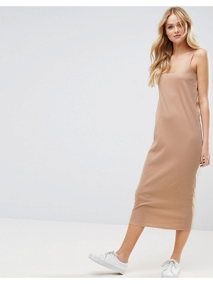ASOS Ultimate Ribbed Maxi Tank Dress With Raw Edge