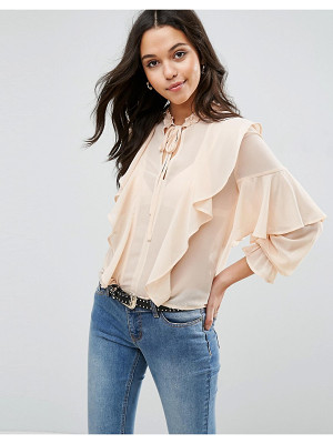 ASOS Ultimate Ruffle Blouse With Tie Neck