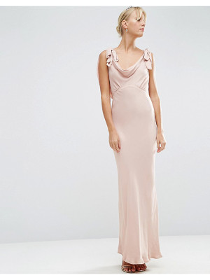 Asos DESIGN Bridesmaid bias cut satin maxi dress