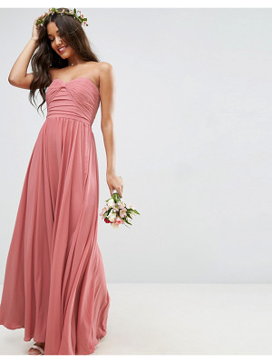 ASOS Wedding Bow Front Bandeau Maxi Dress