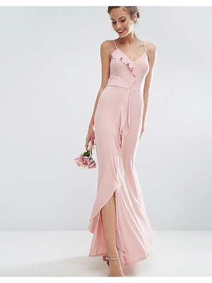 ASOS Design Bridesmaid Cami Frill Maxi Dress