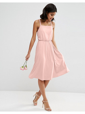 ASOS Wedding Crepe Cross Back Midi Dress