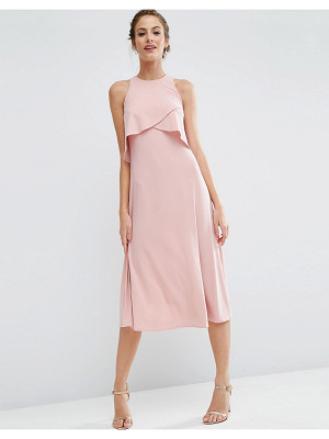 ASOS Wedding Double Layer Midi Dress