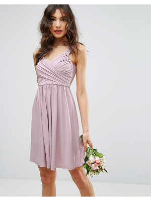 ASOS DESIGN bridesmaid drape front mini dress