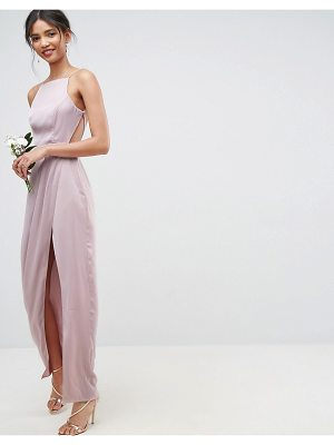 ASOS Wedding Drape Front Strappy Back Maxi Dress