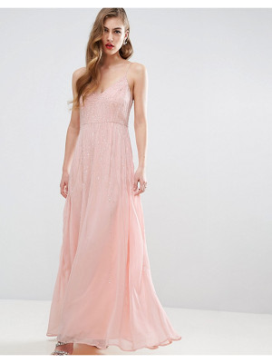 ASOS Wedding Embellished Cami Strappy Midi Dress