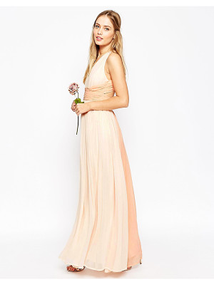 ASOS Wedding Hollywood Contrast Maxi Dress