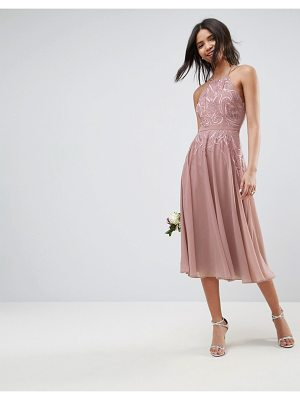 ASOS Wedding Lace Applique Cami Midi Dress