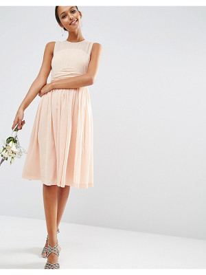 ASOS Wedding Midi Dress With Rouche Panel Detail