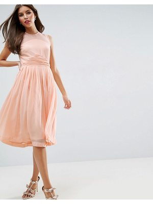 Asos Bridesmaid midi dress with ruched panel detail