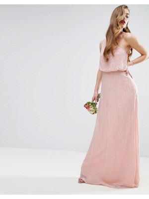ASOS Wedding One Shoulder Embellished Maxi Dress