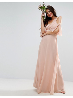 Asos DESIGN Bridesmaid one shoulder maxi dress