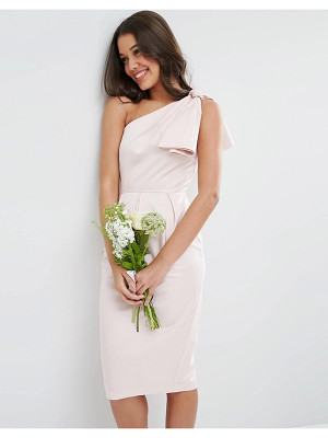 ASOS DESIGN bridesmaid one shoulder structured bow dress