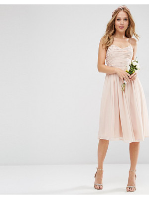 Asos Bridesmaid ruched midi dress