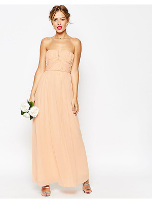 ASOS DESIGN bridesmaid ruched bodice bandeau maxi dress