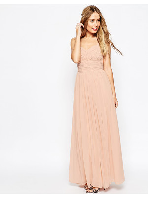 ASOS Design Bridesmaid Ruched Panel Maxi Dress