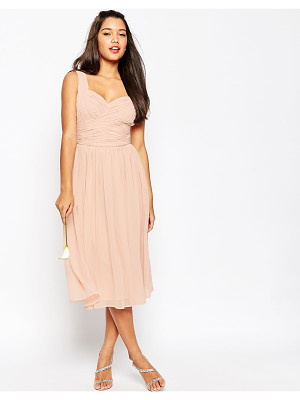 ASOS Wedding Ruched Panel Midi Dress