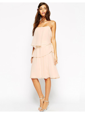 ASOS Wedding Ruffle Dress With Tie Side Detail