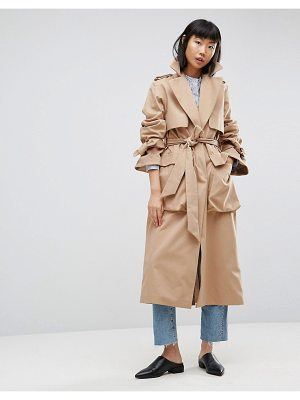 Asos White ASOS WHITE Molded Pocket Trench