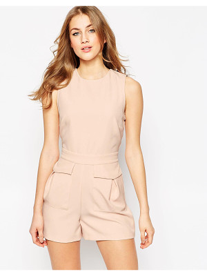 Asos Woven Occasion Romper with Patch Pockets