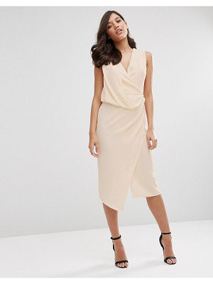 ASOS Wrap Front Midi Pencil Dress