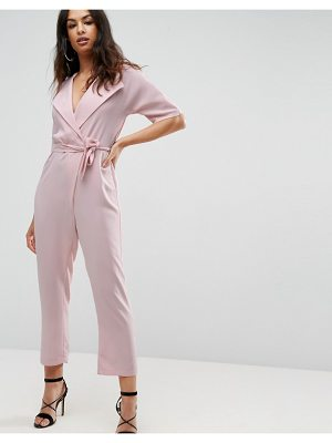 Asos asos wrap jumpsuit with self belt