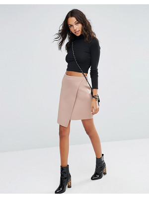 ASOS Wrap Mini Skirt In Scuba