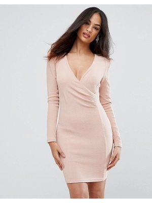 Ax Paris blush bodycon ruched dress