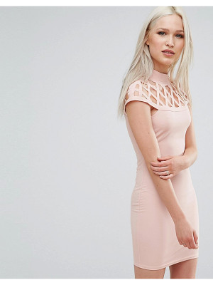 Ax Paris Dress With Lace Insert