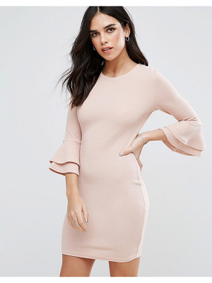 Ax Paris Flute Sleeve Mini Dress