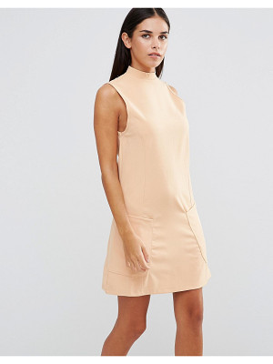 Ax Paris High Neck Shift Dress With Pockets