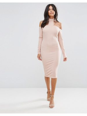 Ax Paris Pink Midi Bodycon Dress