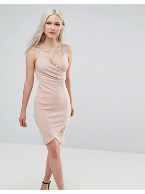 AX PARIS Wrap Front Ruched Dress