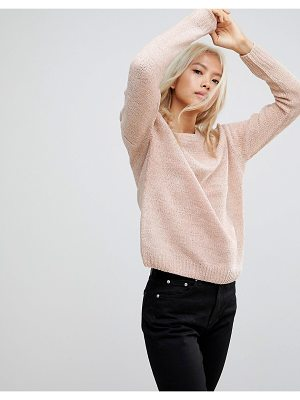 BLEND SHE Rosie Round Neck Chenille Sweater