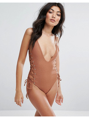 Blue Life Roped Up Swimsuit