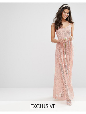 Body Frock Bodyfrock Cami Strap Maxi Dress in Allover Lace