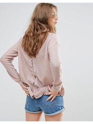 BRAVE SOUL Back Lace Up Sweater