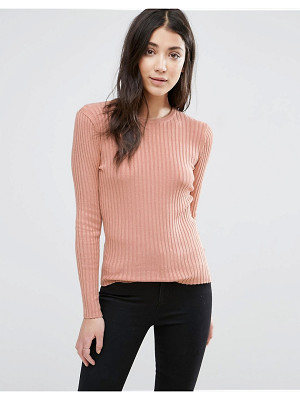 Brave Soul Crew Neck Rib Sweater