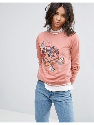 Brave Soul Dragon Embroidered Sweatshirt