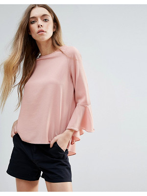 Brave Soul Fluted Sleeve Top