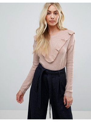 Brave Soul Frill Crew Neck Sweater