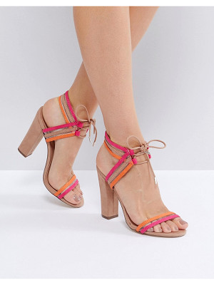 CALL IT SPRING Call It Spring Astoressi Brown Block Heeled Sandals