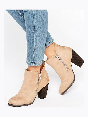 CALL IT SPRING Call It Spring Kokes Zip Heeled Ankle Boots