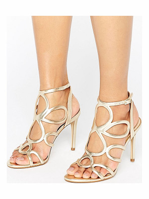 CARVELA Gabby Gold Leather Heeled Sandals