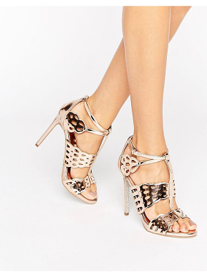 Carvela Kurt Geiger Give Bronze Metallic Heeled Sandals