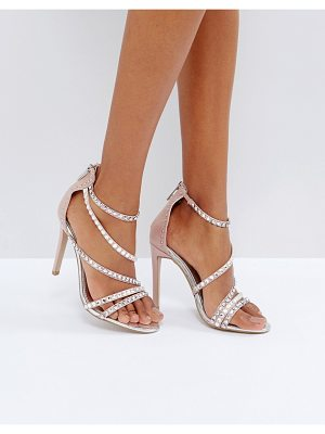 CARVELA KURT GEIGER Grass Embellished Gem Strappy Heeled Sandals