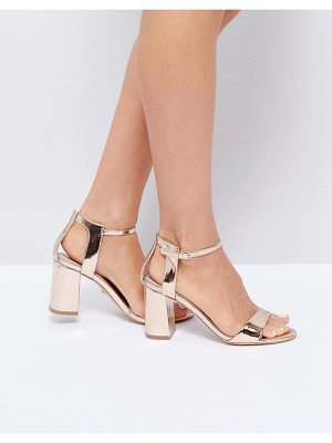 CARVELA KURT GEIGER Rose Gold Heeled Sandals