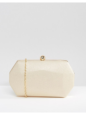Chi Chi London Octagonal Clutch Bag in Pale Gold